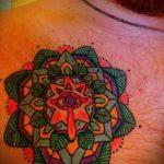 мандала тату цветная - фото пример готовой татуировки от 01052016 7