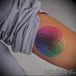 мандала тату цветная - фото пример готовой татуировки от 01052016 8