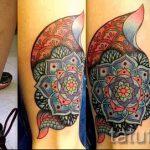 мандала тату цветная - фото пример готовой татуировки от 01052016 9