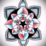 мандала тату эскизы в цвете - рисунок для татуировки от 02052016 1