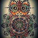 мандала тату эскизы в цвете - рисунок для татуировки от 02052016 2
