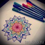 мандала тату эскизы в цвете - рисунок для татуировки от 02052016 3