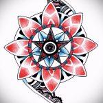 мандала тату эскизы в цвете - рисунок для татуировки от 02052016 5