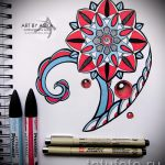 мандала тату эскизы в цвете - рисунок для татуировки от 02052016 7
