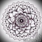 мандала тату эскизы мужские - рисунок для татуировки от 02052016 5