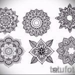 мандала тату эскизы на запястье - рисунок для татуировки от 02052016 6