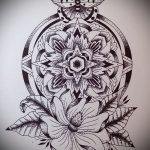 мандала тату эскизы - рисунок для татуировки от 02052016 1