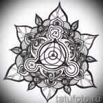 мандала тату эскизы - рисунок для татуировки от 02052016 13