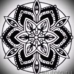 мандала тату эскизы - рисунок для татуировки от 02052016 17