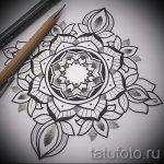 мандала тату эскизы - рисунок для татуировки от 02052016 18