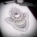 мандала тату эскизы - рисунок для татуировки от 02052016 19