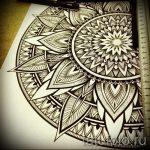 мандала тату эскизы - рисунок для татуировки от 02052016 2