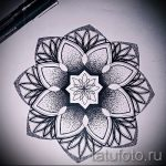 мандала тату эскизы - рисунок для татуировки от 02052016 20