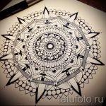мандала тату эскизы - рисунок для татуировки от 02052016 22