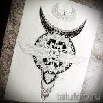 мандала тату эскизы - рисунок для татуировки от 02052016 23
