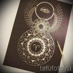 мандала тату эскизы - рисунок для татуировки от 02052016 25