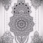 мандала тату эскизы - рисунок для татуировки от 02052016 29