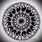 мандала тату эскизы - рисунок для татуировки от 02052016 31