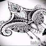 мандала тату эскизы - рисунок для татуировки от 02052016 33