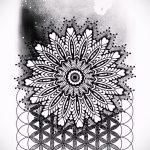 мандала тату эскизы - рисунок для татуировки от 02052016 34