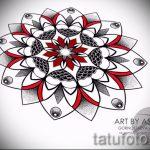 мандала тату эскизы - рисунок для татуировки от 02052016 35