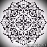 мандала тату эскизы - рисунок для татуировки от 02052016 39