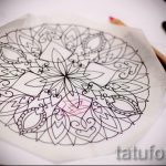 мандала тату эскизы - рисунок для татуировки от 02052016 41