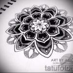 мандала тату эскизы - рисунок для татуировки от 02052016 43