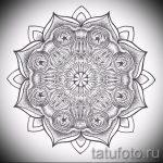 мандала тату эскизы - рисунок для татуировки от 02052016 49