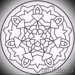 мандала тату эскизы - рисунок для татуировки от 02052016 51