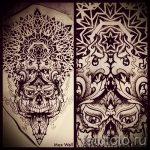 мандала тату эскизы - рисунок для татуировки от 02052016 53