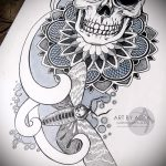 мандала тату эскизы - рисунок для татуировки от 02052016 9
