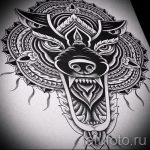 мандала эскизы тату на спину - рисунок для татуировки от 02052016 10