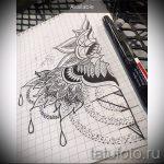мандала эскизы тату на спину - рисунок для татуировки от 02052016 11