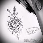 мандала эскизы тату на спину - рисунок для татуировки от 02052016 13