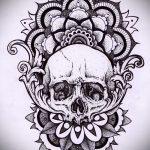 мандала эскизы тату на спину - рисунок для татуировки от 02052016 14