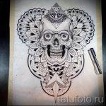 мандала эскизы тату на спину - рисунок для татуировки от 02052016 15