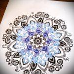 мандала эскизы тату на спину - рисунок для татуировки от 02052016 16