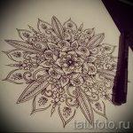 мандала эскизы тату на спину - рисунок для татуировки от 02052016 2