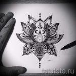 мандала эскизы тату на спину - рисунок для татуировки от 02052016 3