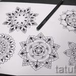 мандала эскизы тату на спину - рисунок для татуировки от 02052016 4