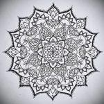 мандала эскизы тату на спину - рисунок для татуировки от 02052016 5