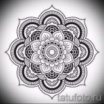 мандала эскизы тату на спину - рисунок для татуировки от 02052016 6