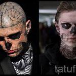 парень весь в тату скелет - фото пример 2
