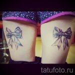 тату бантики на ляшках - фото пример готовой татуировки 02052016 6