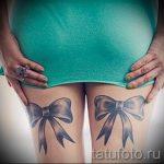 тату бантики на ногах сзади фото - фото пример готовой татуировки 02052016 1