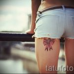 тату бантики на ногах сзади фото - фото пример готовой татуировки 02052016 10