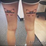 тату бантики на ногах сзади фото - фото пример готовой татуировки 02052016 11