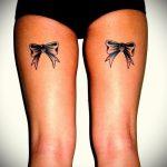 тату бантики на ногах сзади фото - фото пример готовой татуировки 02052016 12