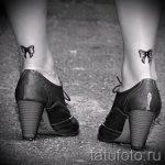 тату бантики на ногах сзади фото - фото пример готовой татуировки 02052016 2
